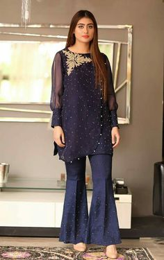 Get this fabulous outfit by ordering at zebaishcollection@hotmail.com or WhatsApp at +923453973384 Or dm at insta on zebaish_collection Pakistani Fancy Dresses, Pakistani Dress Design, Pakistani Outfits, Indian Dresses, Sharara Designs, Kurti Designs Party Wear, Stylish Dresses, Fashion Dresses, Fashion Pants