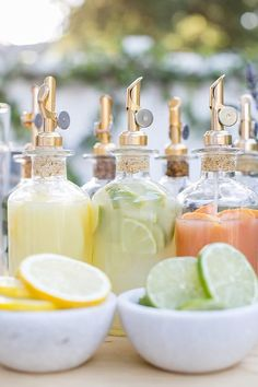 This bar idea is one of my favorite entertaining ideas yet and a great way to kick off a party! We created a Mix & Match Garden Cocktail Bar that gives your guests plenty of choices and allows them to be a creative mixologist, but without having to actually make the cocktail.