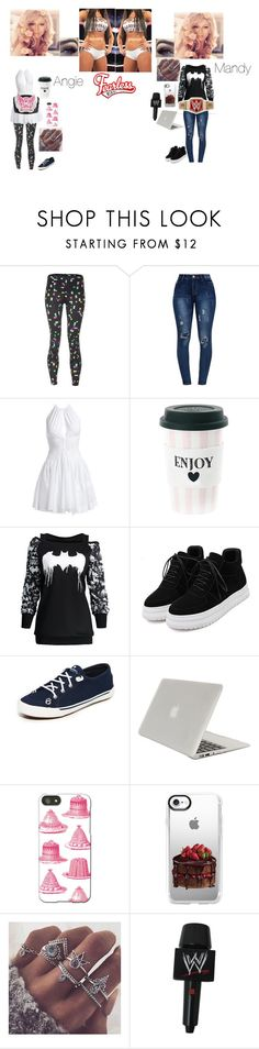 """Twin Magic"" by rhiannabliss on Polyvore featuring CW-X, Alaïa, Miss Étoile, WithChic, Sperry, Tucano, Thornback & Peel, Casetify, WWE and men's fashion"