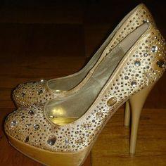 Steve Madden Girl Black Peep Toe Shoes 5 Inch Heel Platform Size 7