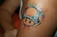 Tatuaje hongo mario bross