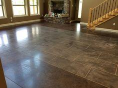 Interior Concrete Staining and Polishing in Morrilton, Arkansas.
