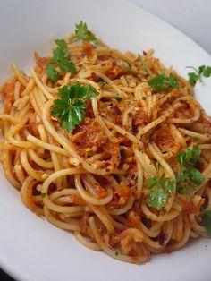 Baccala alla Napoletana (Salt Fish Tomato Pasta Sauce) | Girl Interrupted Eating