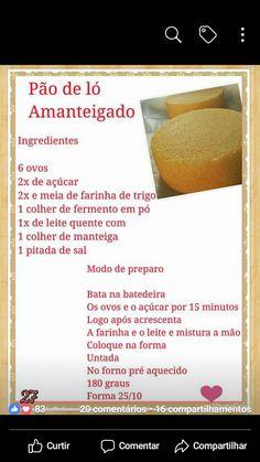 Bolos amanteigados Easy Birthday Cake Recipes, Best Dessert Recipes, Fun Desserts, Brazillian Food, Baker Cake, Cake Boss, Keto Meal Plan, Secret Recipe, Other Recipes