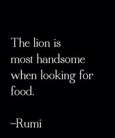The lion is most handsome.