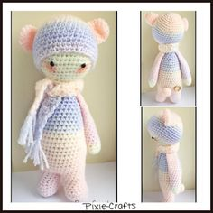 Pixie-Crafts • New today is this gorgeous pastel Bina bear ❤️ She...