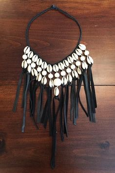 Empress Cowry Shell Collar Necklace