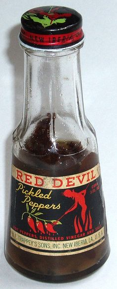 Red Devil Pickled Peppers by grickily, via Flickr