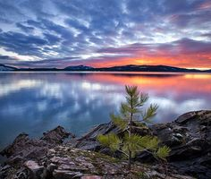 lake pend oreille | Lake Pend Oreille sunset by Chip Phillips - Idaho | Lakes