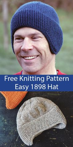 PRINTED KNITTING INSTRUCTIONS-SIMPLE DOUBLE CUFF BEANIE HAT KNITTING PATTERN