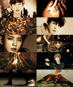 Exo as demigods ↪ Chanyeol, son of Hephaestus; God of fire and forge