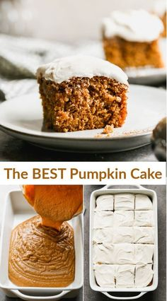 Healthy Dessert Recipes, Sweet Desserts, Smoothie Recipes, Delicious Desserts, Yummy Food, Pumpkin Roll Cake, Pumpkin Cake Recipes, Brownie Cake, Brownies