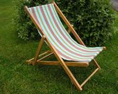 Time to relax on our deckchair in our petanque canvas! #deckchair #stripe #canvas #TSC