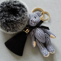 ➷Dimension teddy bear about 10cm(4),tassel 6cm(2.4),fur ball 6cm(2.4) ➷5 colors for choice:blue,green,red,purple,black.  No custom request or change color, thank you. ➷it is a good gift for children,a new year gift,christmas gift or birthday gift,etc. ➷Creation time will usually take 3-5business days.  ➷Please confirm all your order details before submitting.   ➷If you like this item,please visit more listing on my shop https://www.etsy.com/shop/memorix