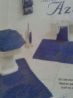 Jogo de banheiro feito em preto