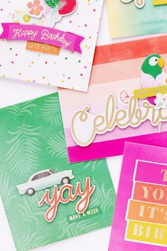 Cards with Confetti Wishes Card Kit | Pink Paislee