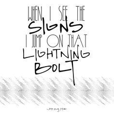 2 Printable Posters - Lightning Bolt by Jake Bugg - Music Lyrics -Wall Art - Quote - Wall Decor - Typography - Art Print - Digital File by FIVE