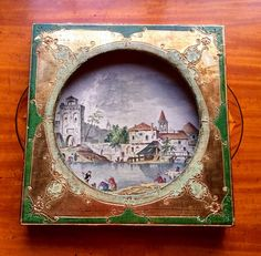 Unusual Florentia Italy Shadowbox Print by TallTimberAntiquesUnusual Florentia Italy Shadowbox Print, Gilt Gold Hollywood Regency Frame Village Dock Scene w Gondolas Animals, Romantic Paris Apartment  Ask a question $24.00 Only 1 available  Overview Vintage item from the 1950s Materials: Florentia balsa wood gold gilt frame, shadowbox frame with print, village scene with canal gondolas people, original label Florentia 6927