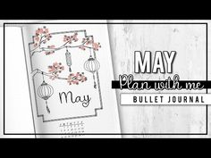 PLAN WITH ME | Bullet Journal Monthly Setup - May 2017 + Printables - YouTube