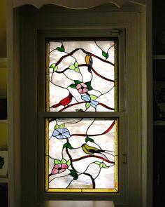 Birds Penrose design.  #stainedglass #windows #contemporary #nature #interior #beautiful #decorative #charming #artsy #custom-made #beveled #elegant