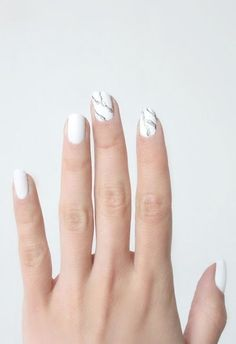 how to: marble mani