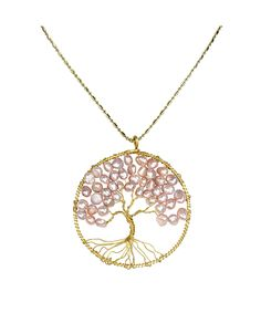 Eternal Tree of Life Brass Long Necklace