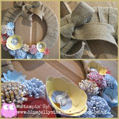 Stampin' Up! Burlap Wreath Class details on blog post