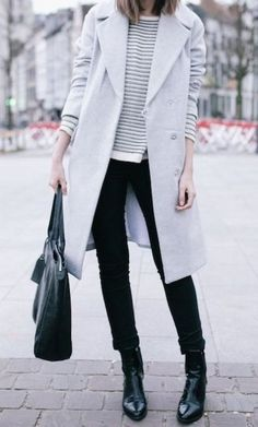 Effortless layering, light grey jacket