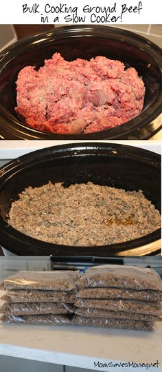 Kitchen Hack – Bulk Cooking Ground Beef in a Slow Cooker! Makes meal prep SO easy!