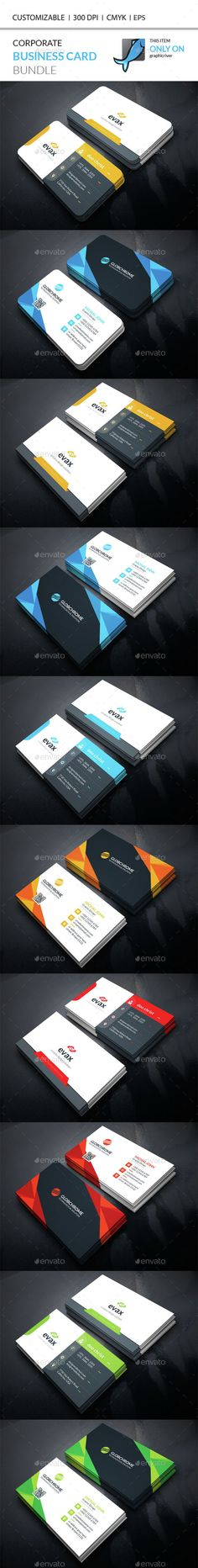 Corporate Business Card Bundle — Vector EPS #id kit #building • Available here → https://graphicriver.net/item/corporate-business-card-bundle/14824594?ref=pxcr