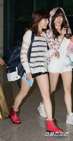 SNSD Sunny Tiffany airport fashion june 2014