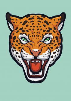Cara de jaguar com raiva, panthera onca . Animal Jaguar, Cool Art Drawings, Cartoon Drawings, Animal Drawings, Leopard Face, Traditional Sleeve, Face Art, Big Cats, Art Inspo