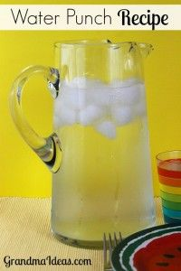 This easy to make Water Punch recipe is a crowd pleaser. It's an easy way to make a lemonade drink without squeezing lemons!