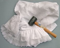 rubber mallet Baptism Gown, Christening Gowns, Sewing Lace, Baby Sewing, Baby Gown, French Seam, Linens And Lace, Heirloom Sewing, Bebe