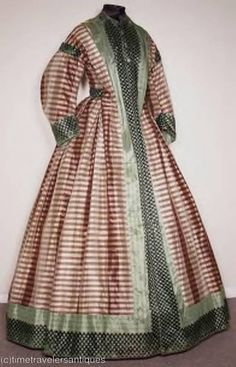 1862 taffeta civil war era wrapper