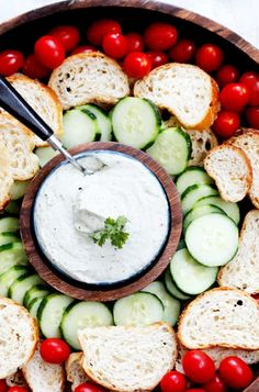 Easy Healthy Appetizers Whipped Feta Dip with Veggies