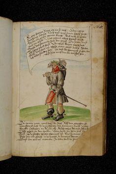 Ein Landsknecht mit Armbrust und Degen.