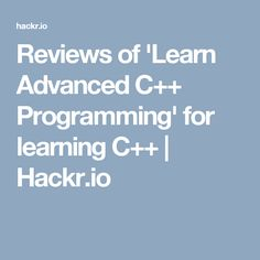 15 Best C++ Tutorials - Most Recommended images in 2019 | C