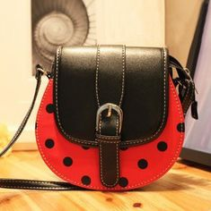 Bags women's handbag 2012 fashion cartoon bag coccinella messenger bag messenger bag small bag $9.90