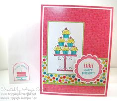Happily Ever Crafter, Created by Angie Britt, Stampin Up! demonstrator.  Birthday wishes for a sweet little birthday girl!