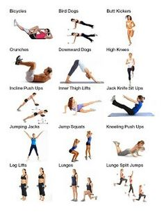 Visuals for the common exercise terms