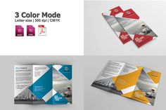 Trifold Corporate Brochure-v253 by Template Shop on Creative Market