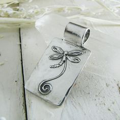Dragonfly Pendant PMC Artisan Jewelry Original and by SilverWishes, $82.00