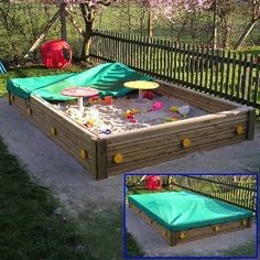 Open topped Brighton Sand Box includes play tables and cover. High-quality timber sand pit for playgrounds and play areas.