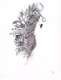 feather and dreming things in one picture <3 love this one maybe my next tattoo