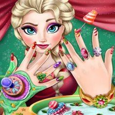 Elsa Frozen Yılbaşı Manikürü yapacağız.