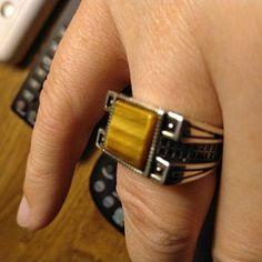 Handmade 925K Sterling Silver Mens Ring With Howlite | Etsy Aquamarine Stone, Garnet Stone, Jewelry Stores Near Me, Sterling Silver Mens Rings, Amber Stone, Turquoise Stone, Beautiful Rings, Handmade Silver, Rings For Men