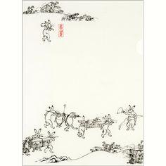 【メール便可】 A4クリアファイル 〈国宝 鳥獣人物戯画(運び)〉