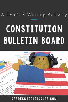 Are you looking for ideas for a Constitution themed bulletin board? If you're teaching your class about the Constitution of the United States, this craft makes a patriotic American display. It's an activity to wrap up your US Constitution Unit or it's perfect for Constitution Day. Your kids will summarize what they've learned about using graphic organizers to organize their writing. Then, they'll create the craft. This project is a fun craft for kids in the 2nd or 3rd grade.