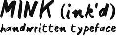 MInk - web font